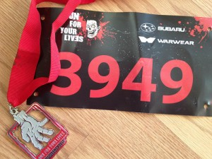 Zombie Fun Run Finisher Medal