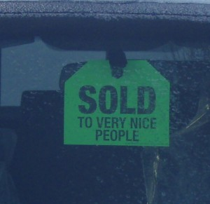 """Sold To Very Nice People"" tag"