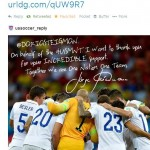 Thank You Tweet from U.S. Soccer
