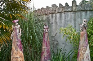 Stone Ladies by the Castle Walls