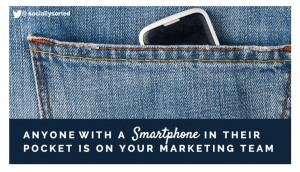Smartphone in a pocket