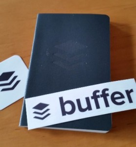Buffer notebook and stickers