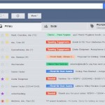Screenshot of Inbox w/ Color-coded labels
