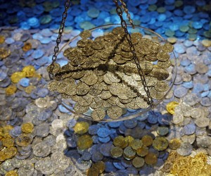 Scattered Gold Coins