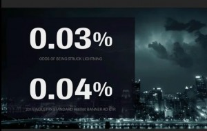 We're as likely to be struck by lightening