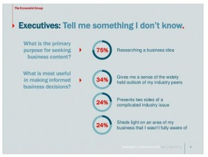 what executives want from content marketing